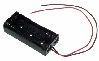 "Battery holder for 2 ""AAA"", wire leads"