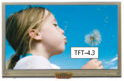 "480x272 pix, 4.3"",105.5x67.2x7.61mm,TFT color,LED B/L,w.T/P"