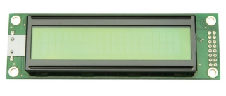 20Х2 LCD STN Yellow Green 180.0x40.0x9.5mm; Extended Temperature Type; LAT+CYR FONT