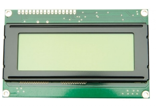 20Х4 LCD, STN, Yellow-green mode, Transflective, 98x60x14.5mm, 3.3V, Yellow-green LED B/L