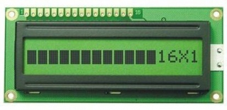 16Х1 LCD STN 122.0x33.0x10.0mm LAT+CYR FONT