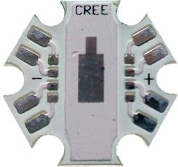 """Подложка тип """"звезда"""" за CREE диоди MCE"""