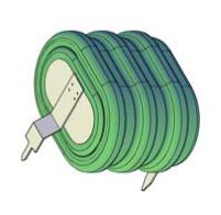NiMH,3.6V/160mAh,horisontal mount, 3pin socket