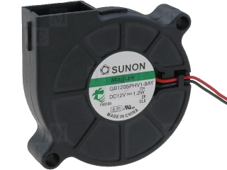 Radial Fan (Blower); 12VDC; 50x50x15mm; 1.2W; 6.8m3/h; 5000RPM