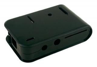 Plastic Box Black; for Raspberry Pi Model B only