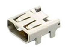 HDMI Receptacle; Micro (D-Type); SMD+DIP Shell; Right Angle