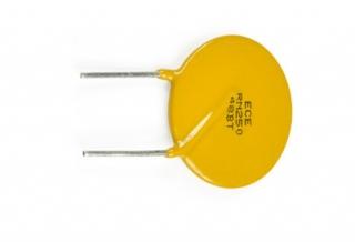 Възстановяем предпазител PTC Ihold 1.35A; Vmax 90V; ф14.5мм, P5.1mm