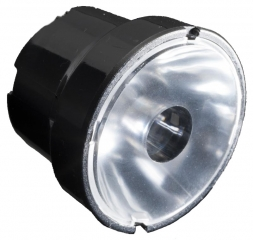 Assembly Lens Iris, Real Spot Beam, Screw/Pin/Tape Fastening, Material-PMMA O38x27.1mm