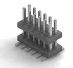 Dual Bodies header,Body=6mm Contact=3.8mm, 2x17,straight SMD, P1.27mm