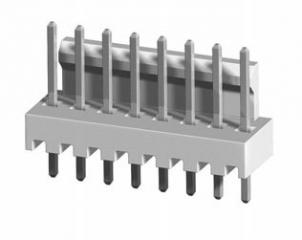 Съединител щифтов прав, 2.54мм, 8P, 3A/250V, нископрофилен,H=8.3mm