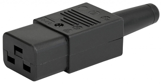 IEC C19 (Plug J); Cord Connector; with Screw Terminals; with Strain Relief;  16A/250VAC