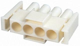 MATE-N-LOK II ,Front Plug , 4 Pin, P 6.35mm, AWG30-10, 3-16.5A