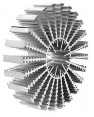 Aluminium Profil Heat Sink, Diam.=160mm, L=50mm, 1.1K/W