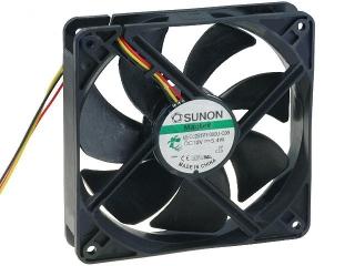 12VDC, 120x120x25mm, 5.4W, 183.83m3/h, 3100RPM; сигнал за обороти