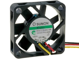 12VDC, 40x40x10mm, 0.96W, 11.89m3/h, 5800RPM; сигнал за обороти