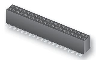 Съединител гнездов, височ.4,55mm, 2x25, прав, SMD,Р1.27мм