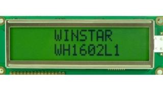 16Х2 LCD STN Gray Pos. 122.0x44.0x13.6mm, white B/L LAT+CYR FONT