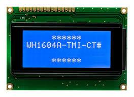 16x4 LCD STN Blue Neg. 87x60x14mm white B/L LAT+CYR
