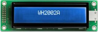 20x2 LCD STN Blue Neg. 116x37x14.5mm white B/L LAT+CYR