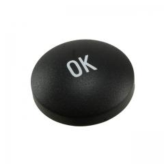 "Cap for navigating; Round/D=14.3mm; ""OK"" sign; White on Black"