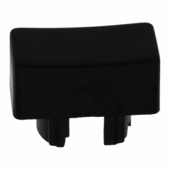 Cap Rectangular; 12.5x6.5mm; Black