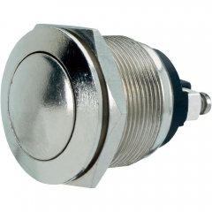 Push Button Switch; 1NO 2A/250VAC; Round M19mm; VANDAL PROOF
