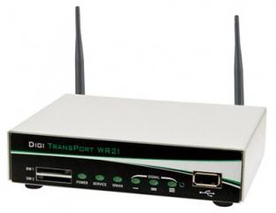 Digi TransPort WR21 - Cellular (4G LTE International), Ethernet (2 Ports), Serial (1 RS-232 Port), Antennas & Power Supply included
