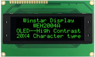 Character OLED Display 20x4 Green 98 x 60 x 10 mm, 5V