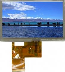 480x272 pix, 4.3'', 105.5x67.2x2.9mm, LED BL, TS