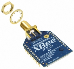 XBee-PRO DigiMesh 2.4 extended range module, RPSMA connector