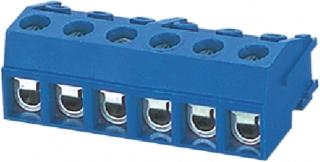 Terminal block, 10A, 300V, 3pole, RM5mm, Vertical, Black, AWG28-16