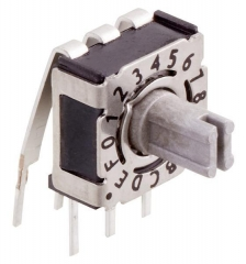 Rotary Code Switch, 16 positions, TH RA, Arrow-shaped slot, IP67, Grey