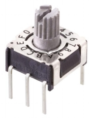 Rotary Code Switch, 16 positions Complement, TH, Arrow-shaped slot, IP67, White