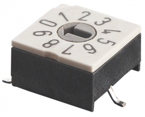 Rotary Code Switch, 16 positions Complement, SMT, Arrow-shaped slot