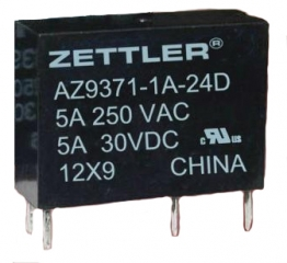 5A/12V 720Ohms SPST subminiature, unsealed