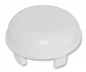 Cap Round; Low Profile; D=9.6mm; White
