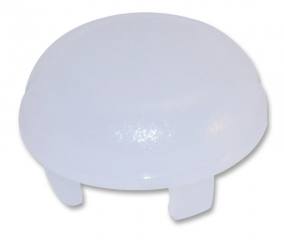 Cap Round; Low Profile; D=9.6mm; Frosted White