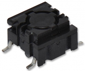 Pushbutton Switch;Leveled Actuator;10x10mm;SPST/OFF-ON;2.0N;50mA/24VDC;IP67;SMD