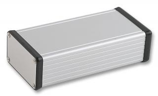 Aluminum Box 160x78x43mm Clear