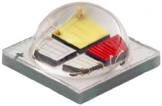 5x5mm, RGBW, 100lm@350mA per LED, 1000mA per LED max, 130deg