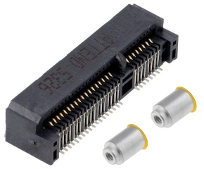 Mini PCI Express Socket; Top Mount; SMD; Stand off 7.0mm + Nuts