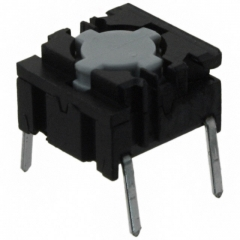 Pushbutton Switch;Leveled Actuator;10x10mm;SPST/OFF-ON;2.0N;50mA/24VDC;Quiet Version