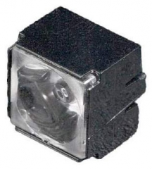 Assembly Lens Larisa, Real Spot Beam, Pin Fastening, Material-PMMA 9.9x9.9x7.5mm