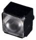 Assembly Lens Larisa, Medium Beam, Pin Fastening, Material-PMMA 9.9x9.9x7.5mm