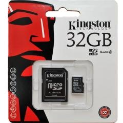 32GB microSDHC (UHS-1), с допълнителен SD адаптер