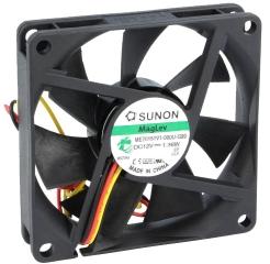 12VDC, 70x70x15mm, 1.36W, 45.87m3/h, 3300RPM; сигнал за обороти