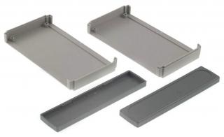 Plastic Box 130x76x30, Gray
