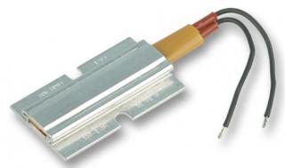 Heater PTC, F-Plate, 20W, 100-240V, aluminium case, 470mm wire leads