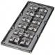 Lens Array Strada, Asymmetric Beam, Screw/Pin Fastening, Material-PMMA 173x71.4x12.03mm