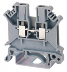 DIN rail terminal block 0.2...2.5mm2 for TS35x15, TS35x7.5, 24A 800V, grey